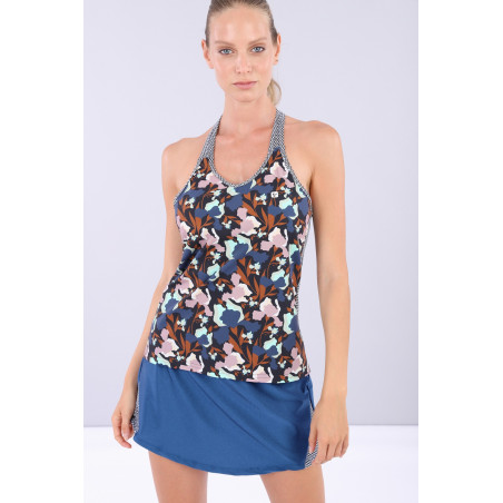 Floral Yoga Tank Top - Made in Italy - BMB - Floral