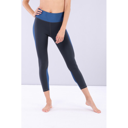 Superfit Yoga Trousers - B84B - Made in Italy - India Ink & Blu Vienna