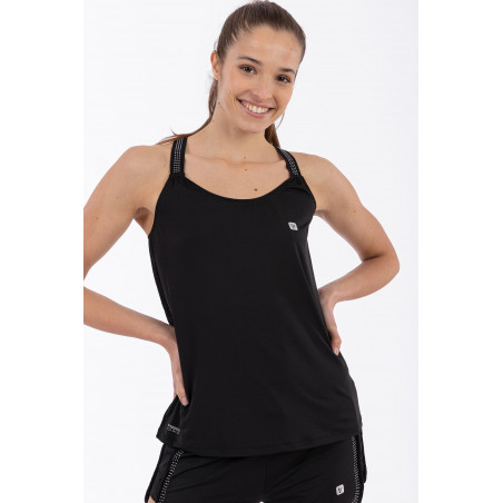 D.I.W.O Tank Top With Mesh Back - N - Black