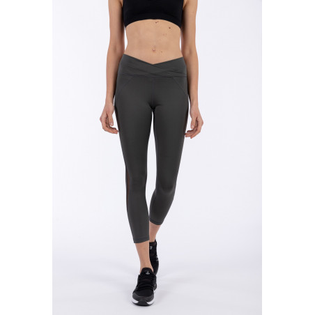 D.I.W.O.® Superfit High Waist Leggings - 7/8 Length - Criss-Cross Waist - G59 - Mørkegrå