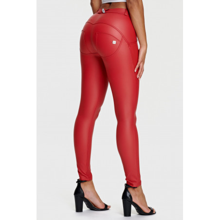 WR.UP® Ecoleather - Regular Waist Skinny - R68 - Rød