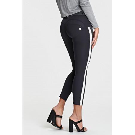 WR.UP® Regular Waist Skinny Made In Italy Tweed Effect 7/8 Ankle - NG7N - Svart