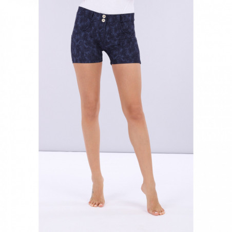 WR.UP® Shorts - Indigo Floral Print - FLO8 - Allover Flower Blue