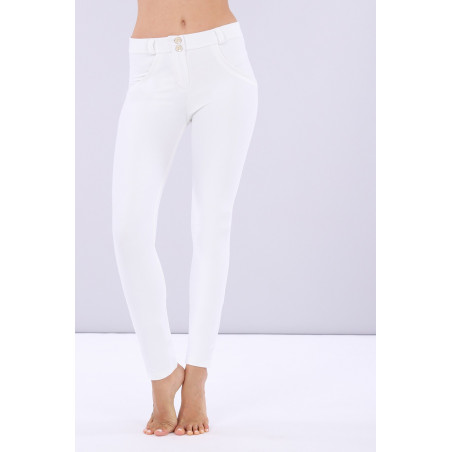 WR.UP® Reguar Waist Skinny - Lustrous Shaping Pants - W - White