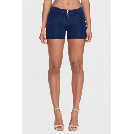 WR.UP® Denim Effect - Regular Waist Shorts - J0B - Dark Denim - Blue Seam