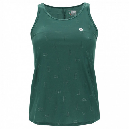 Tank Top With A Gathered Back - Made In Italy - V37 - Smoke Pine
