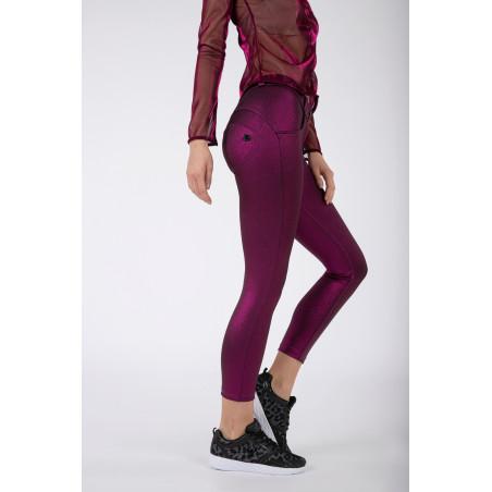 WRUP® Regular Waist Skinny - Metallic Jersey - F97 - Fuchsia Metalized