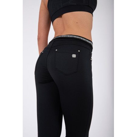 N.O.W® Pants - D.I.W.O.® Mid Waist Skinny - Foldable Waist - N - Black