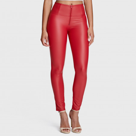 WR.UP® Ecoleather - High Waist Skinny - R680 - Red