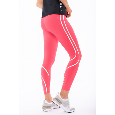 Superfit Leggins In D.I.W.O® - High Waist Skinny - Decorative Trim - 7/8 Length - A103 - Coral