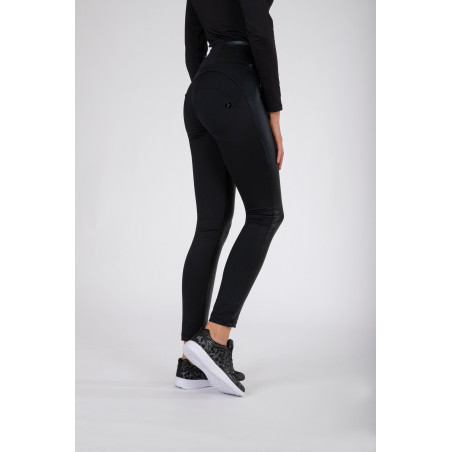 WR.UP® High Waist Skinny - Ecoleather Inserts - N - Black