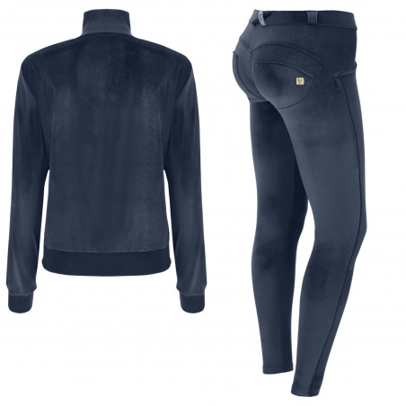 WR.UP® Tracksuit - Soft Chenille With Glitter Bands - B94 - Blue Nights