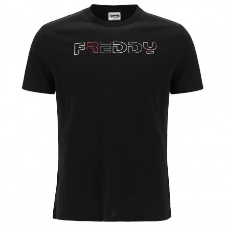 FREDDY Printed T-Shirt - N0 - Svart