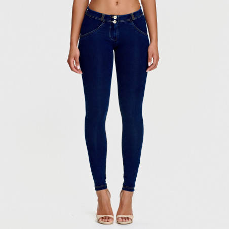 WR.UP® Regular Waist Super Skinny Denim effect - J0Y - Mørkeblå denim - Gulsøm