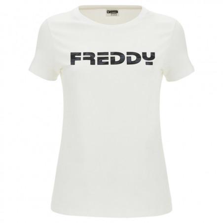 FREDDY Printed T-Shirt - W - Hvit