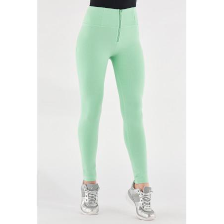 WR.UP® High Waist Skinny - Heavyweight Stretch Jersey - D50 - Green Ash