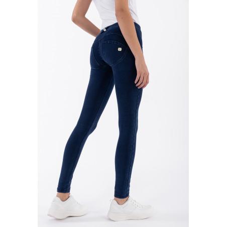 WR.UP® Regular Waist Super Skinny Denim effect - J0B - Mørkeblå denim - Blå søm