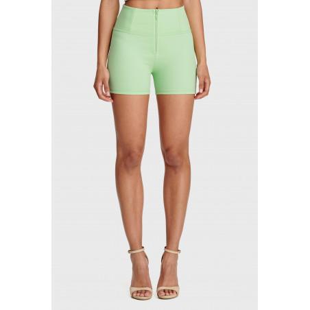 WR.UP® Shorts - High Waist Skinny - Heavyweight Stretch Jersey - D50 - Green Ash