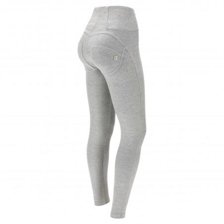 WR.UP® Denim Effect - High Waist Skinny - J69W - Denim Light Grey - White Seam