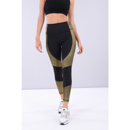 SUPERFIT Leggings High Waist in D.I.W.O.® 7/8 Ankle - NNB2 - Svart/Gull