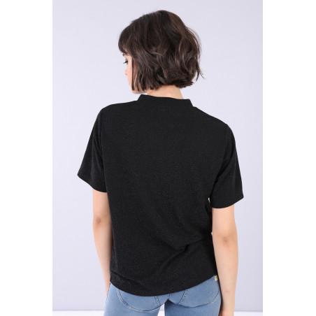 FREDDY T-Shirt With Print - N0 - Svart