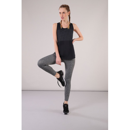 SUPERFIT Leggings in D.I.W.O.® 7/8 Ankle - N26QF - Gråmelert/Fuchsia