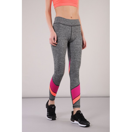 SUPERFIT Leggings in D.I.W.O.® 7/8 Ankle with Colorful Inserts - NQFA - Gråmelert