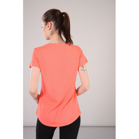 FREDDY PRINTED COTTON T-SHIRT - A10 - Coral